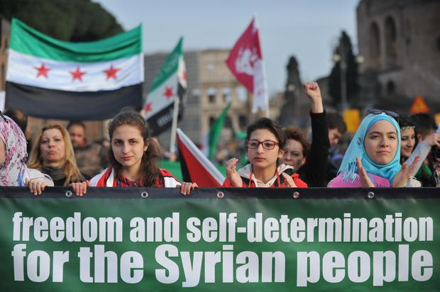 ITALY-SYRIA-CONFLICT-PROTEST
