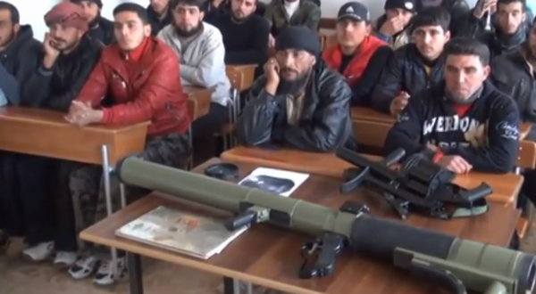 FSA fighters being instructed in the use of the ex-Yugoslav M79 anti-tank rocket launcher YouTube (1)