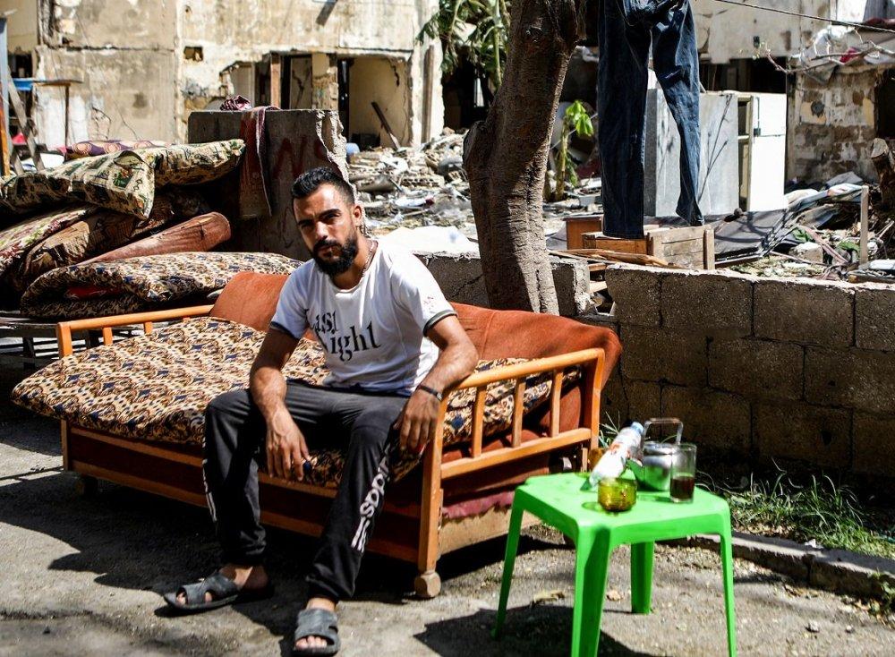 Un réfugié syrien Beyrouth, après l'explosion (AFP)